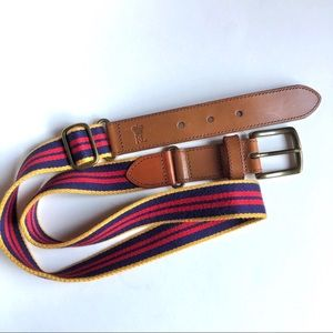 Polo by Ralph Lauren Red/Yellow Striped Belt